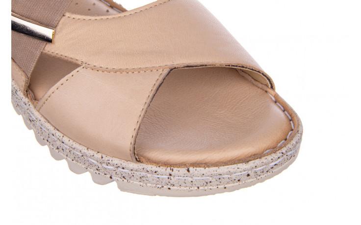 Sandały bayla-161 016 901 beige 161190, beż, skóra naturalna 5