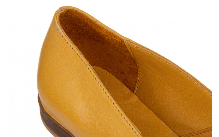 Baleriny bayla-161 138 80123 noce 161225, żółty, skóra naturalna  - skórzane - baleriny - buty damskie - kobieta 6