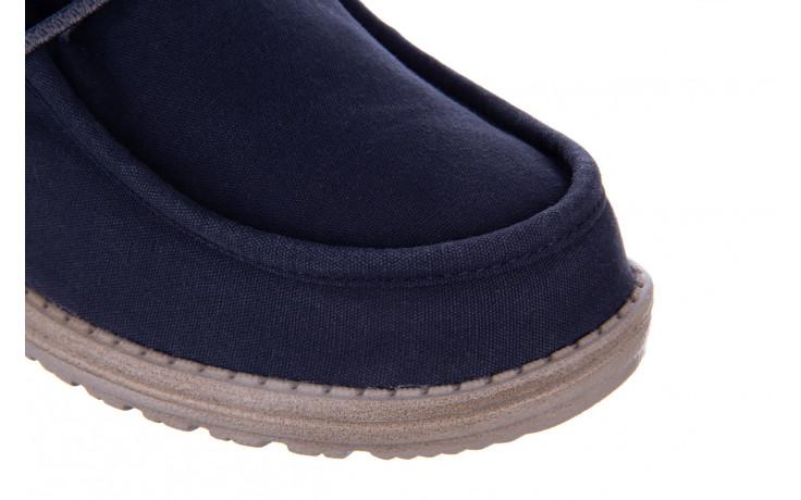 Półbuty heydude wally washed blue space 003207, granat, materiał  - nowości 5