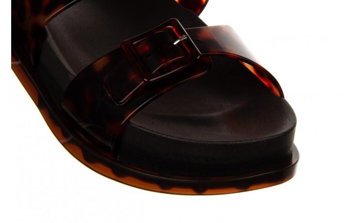 Sandały melissa wide platform ad black turtoise 010362, czarny/ brąz, guma - nowości 5