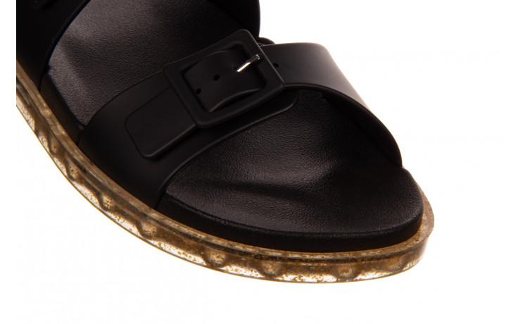 Sandały melissa wide sandal ad black rice husk 010358, czarny, guma - nowości 5