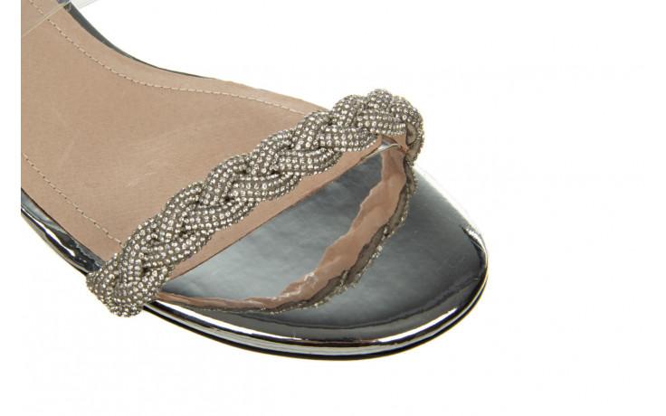 Klapki sca'viola b-205 silver 047180, srebro, silikon - klapki - buty damskie - kobieta 5