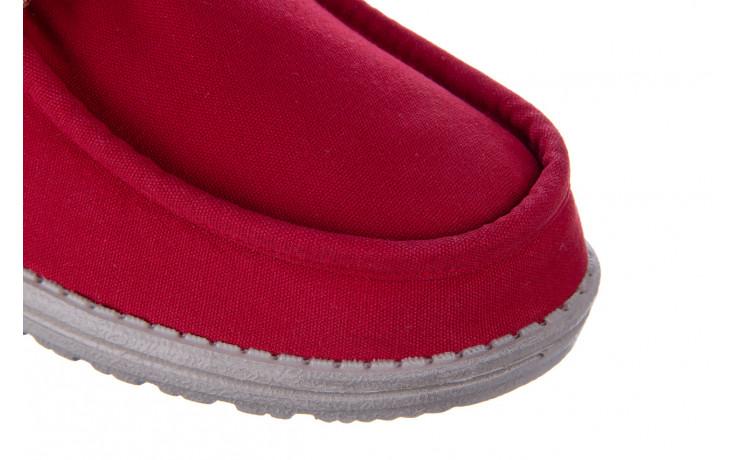 Półbuty heydude wally washed molten lava 003208, czerwony, materiał - trendy - mężczyzna 5