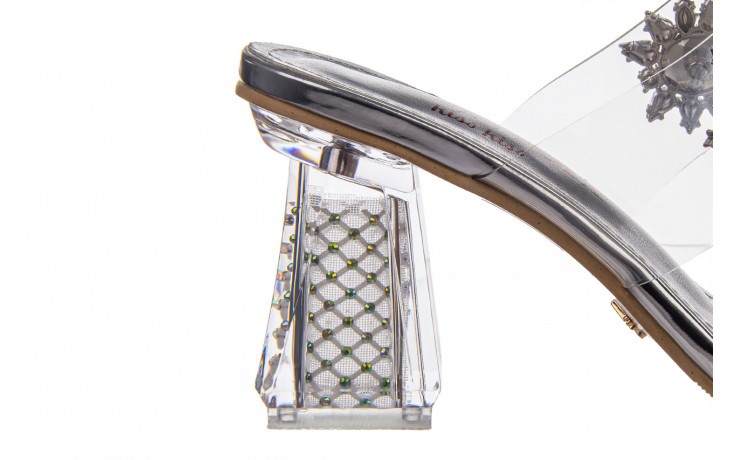 Klapki sca'viola g-58 silver 047188, srebro, silikon  - klapki - buty damskie - kobieta 6