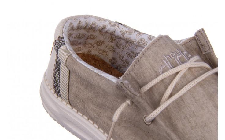 Półbuty heydude wally linen natural khaki 003205, beż, materiał - trendy - mężczyzna 5