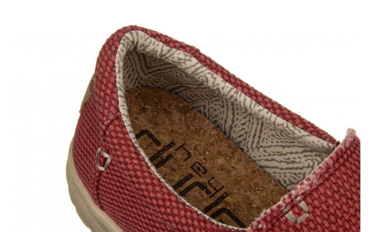 Półbuty heydude mikka braided pompeian red 003215, czerwony, materiał  - nowości 5