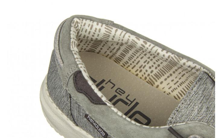 Półbuty heydude laila chambray ice grey 003214, szary, materiał - dla niej  - sale 5