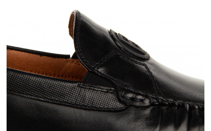 Mokasyny john doubare ygc-z2154-301-10 black 104174, czarny, skóra naturalna  - mokasyny i espadryle - buty męskie - mężczyzna 8