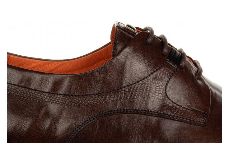 Półbuty john doubare q13e-s45-a77 coffee 104171, brąz, skóra naturalna  - wizytowe - półbuty - buty męskie - mężczyzna 5