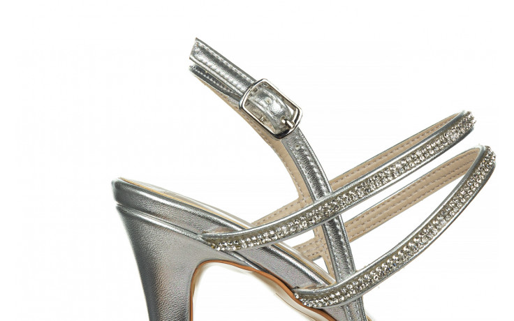 Sandały bayla-187 587-1120 silver 187016, srebro, skóra ekologiczna  - sandały - buty damskie - kobieta 6