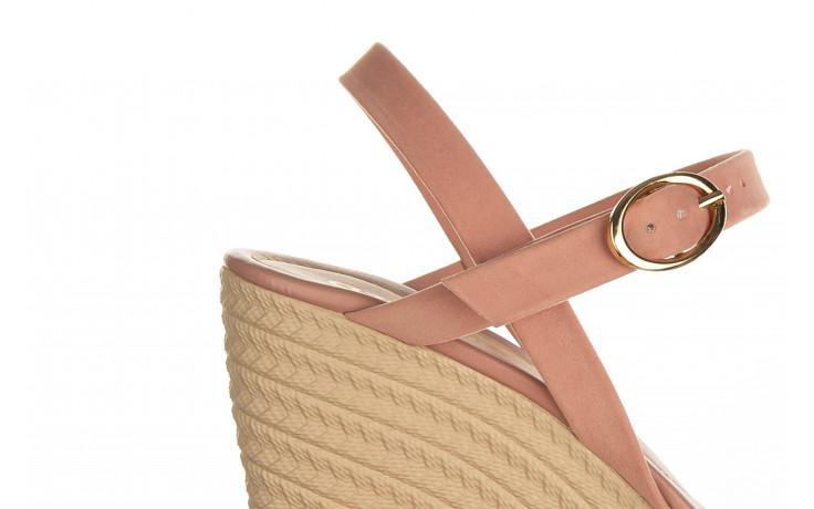 Sandały azaleia 680 242 suede old pink, róż, materiał  - koturny - buty damskie - kobieta 6
