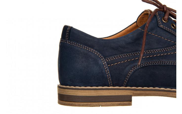 Półbuty bayla-081 831 juma blue ax, granat, skóra naturalna  - wizytowe - półbuty - buty męskie - mężczyzna 7
