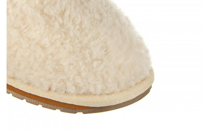Klapki emu joy teddy natural 119139, beż, futro naturalne  - trendy - kobieta 6