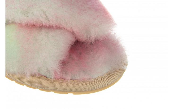 Kapcie emu mayberry tie dye fairly floss 119137, róż, futro naturalne  - nowości 6
