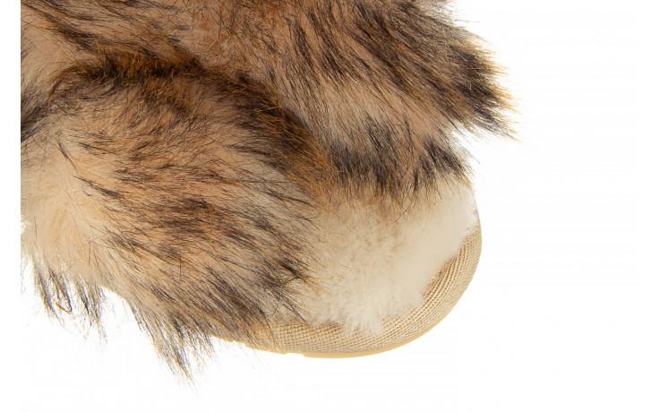 Kapcie emu mayberry lava chestnut 119134, beż, futro naturalne  - trendy - kobieta 6