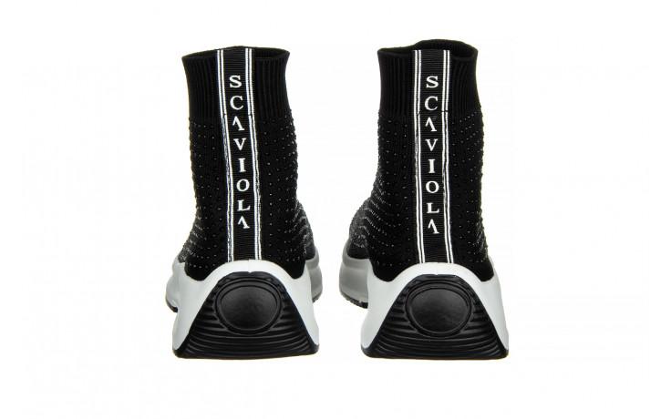 Sneakersy sca'viola l-15 black 047194, czarny, materiał - trendy - kobieta 5