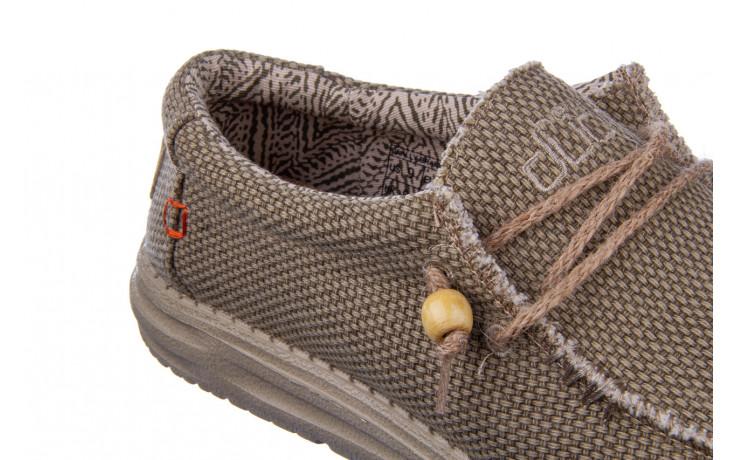 Półbuty heydude wally braided nut 003198, beż, materiał 7
