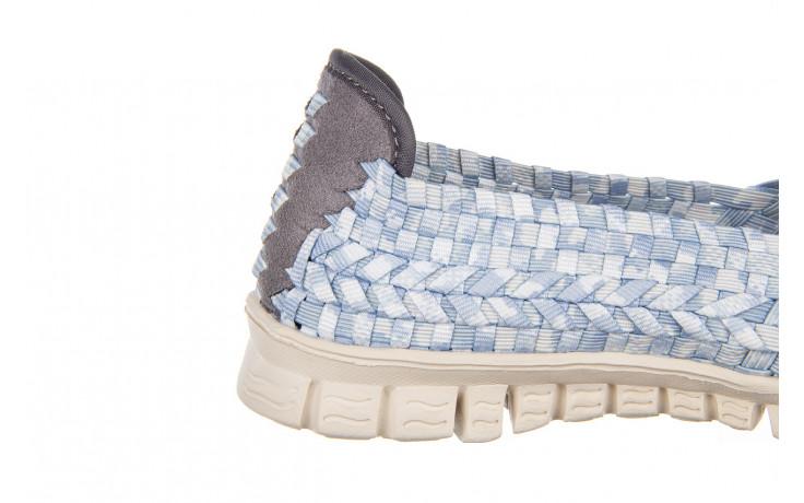 Półbuty rock carioca perena blue smoke 032826, niebieski/ biały, materiał - wsuwane - półbuty - buty damskie - kobieta 6