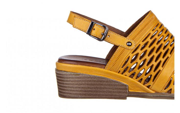 Sandały bayla-161 061 1600 noce 161200, żółty, skóra naturalna  - bayla - nasze marki 6