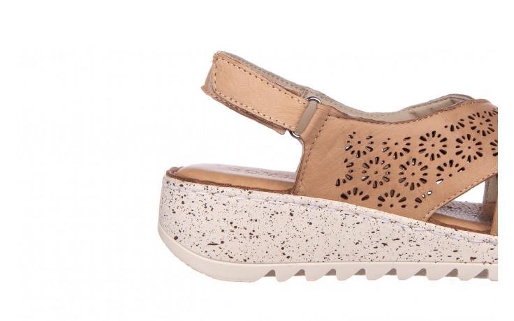 Sandały bayla-161 016 921 cappuccino 161192, brąz, skóra naturalna - sandały - buty damskie - kobieta 6