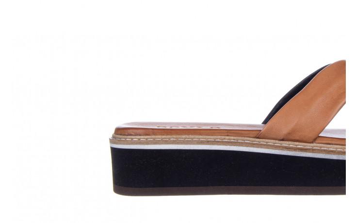 Klapki bayla-161 105 6004 black tan 161214, czarny/ brąz, skóra naturalna  - klapki - buty damskie - kobieta 5