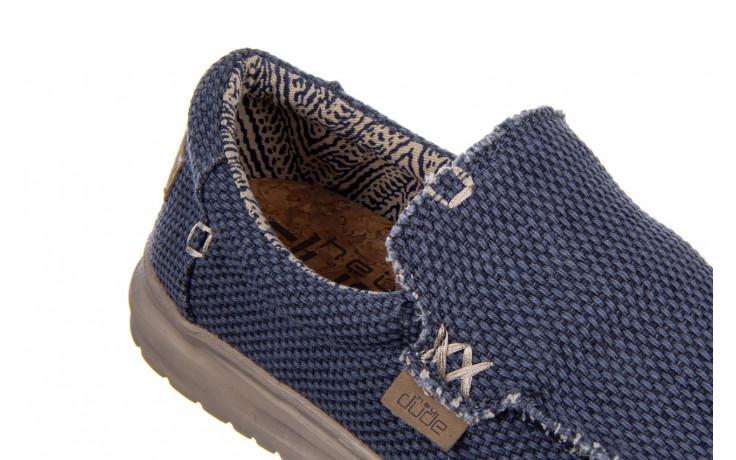 Półbuty heydude mikka braided deep blue 003196, granat, materiał - buty męskie - mężczyzna 5