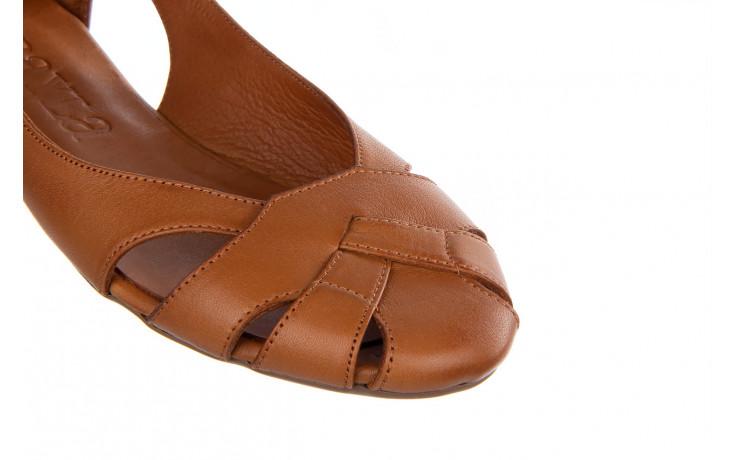 Baleriny bayla-161 093 6047 coconut 161209, brąz, skóra naturalna  - skórzane - baleriny - buty damskie - kobieta 6