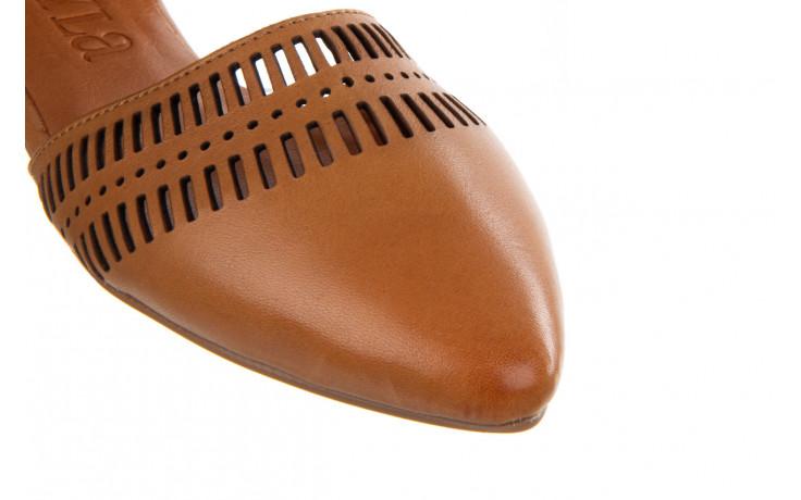 Baleriny bayla-161 138 1102 coconut 161216, brąz, skóra naturalna  - skórzane - baleriny - buty damskie - kobieta 7