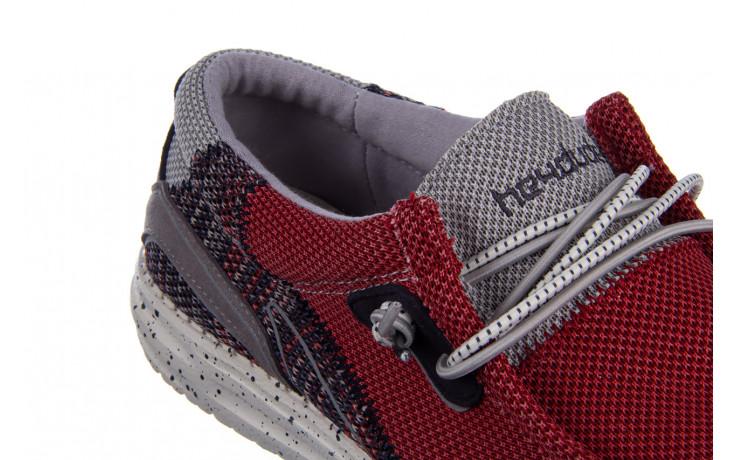 Półbuty heydude wally hawk lava grey 003200, czerwony, materiał - trendy - mężczyzna 7