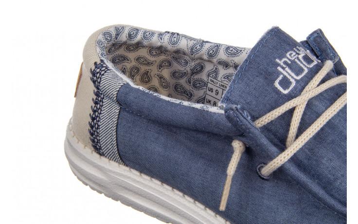 Półbuty heydude wally linen natural blue 003204, granat, materiał  - trendy - mężczyzna 6