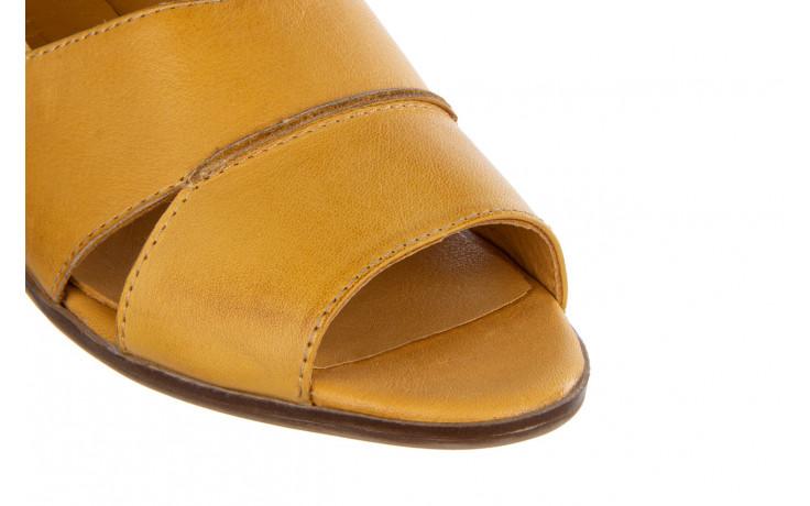 Baleriny bayla-161 138 80123 noce 161225, żółty, skóra naturalna  - skórzane - baleriny - buty damskie - kobieta 7