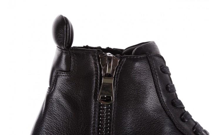 Sneakersy john doubare m5761-1 black, czarny , skóra naturalna  - trendy - mężczyzna 6