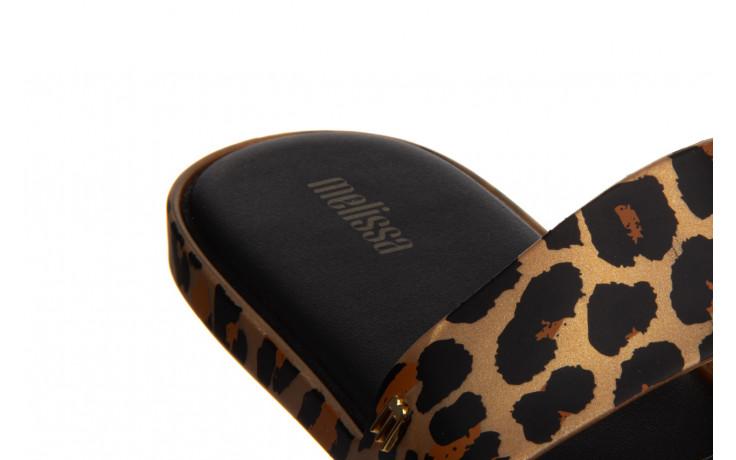 Klapki melissa color pop ad gold black 010342, złoty/ czarny, guma - kobieta 6