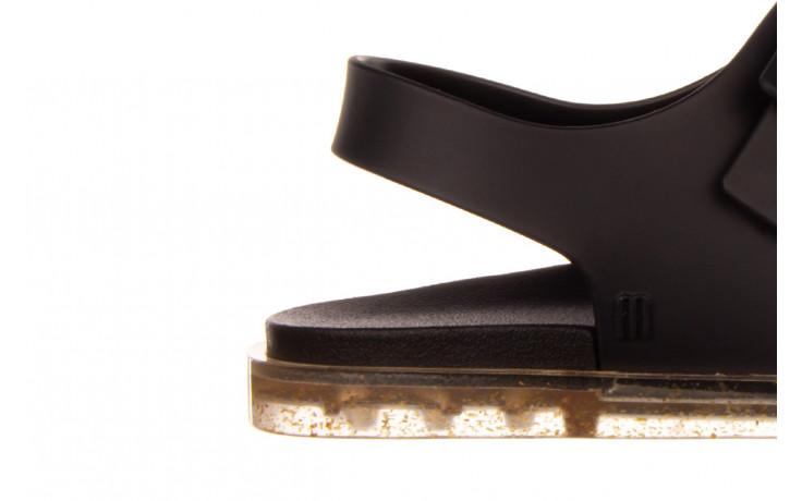 Sandały melissa wide sandal ad black rice husk 010358, czarny, guma - nowości 6