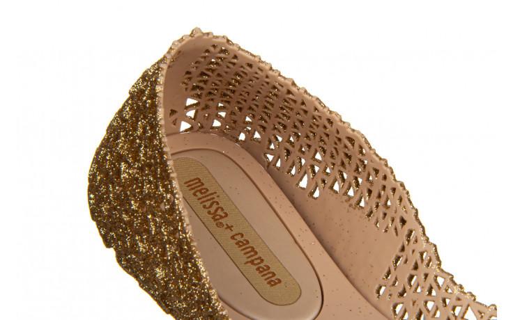 Baleriny melissa campana papel vii ad beige glitter 21 010364, złoty, guma - baleriny - melissa - nasze marki 5