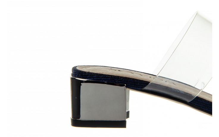 Klapki sca'viola b-204 d blue 047179, granat, silikon  - klapki - buty damskie - kobieta 5