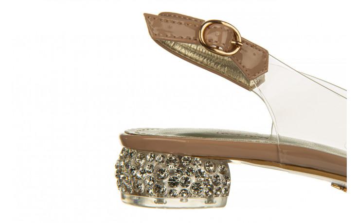 Sandały sca'viola g-15 l pink 21 047182, róż, silikon - na obcasie - sandały - buty damskie - kobieta 6