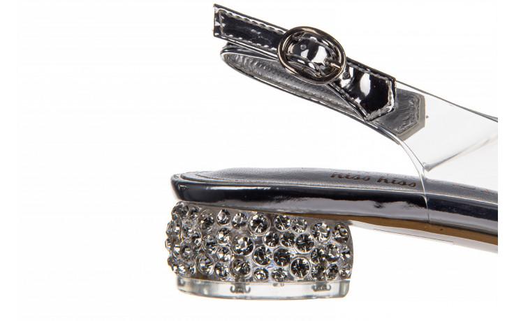 Sandały sca'viola g-15 silver 21 047183, srebro, silikon  - na obcasie - sandały - buty damskie - kobieta 6