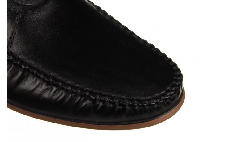 Mokasyny john doubare ygc-z2154-301-10 black 104174, czarny, skóra naturalna  - mokasyny i espadryle - buty męskie - mężczyzna 6