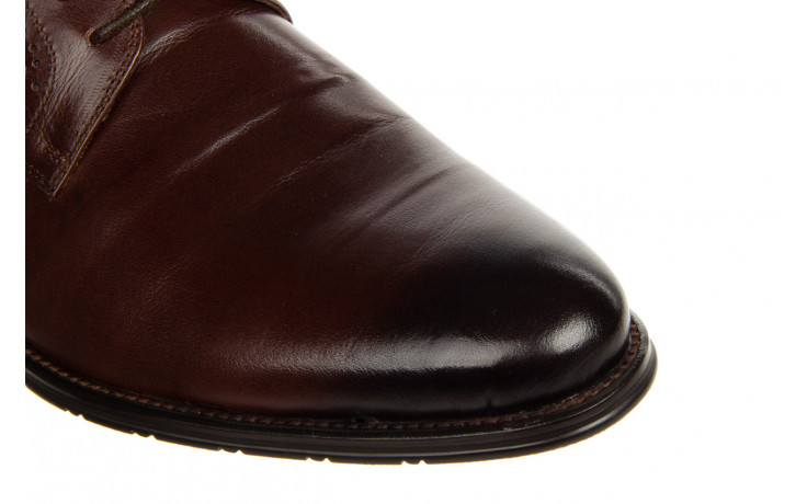 Półbuty brooman b-802-189 coffee 104167, brąz, skóra naturalna  - nowości 9