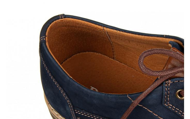 Półbuty bayla-081 831 juma blue ax, granat, skóra naturalna  - wizytowe - półbuty - buty męskie - mężczyzna 6