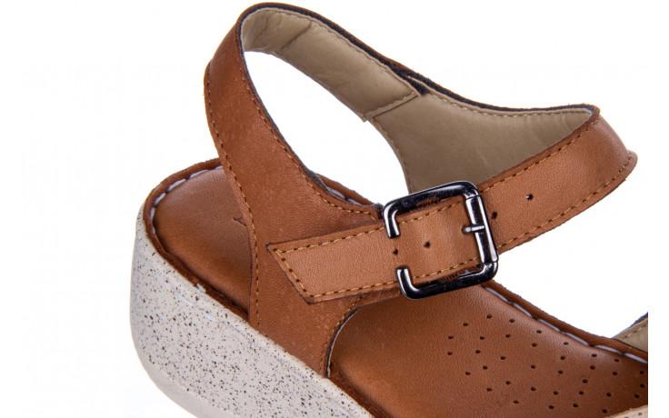 Sandały bayla-161 016 981 beige coconut 161197, brąz/ beż, skóra naturalna  - bayla - nasze marki 7