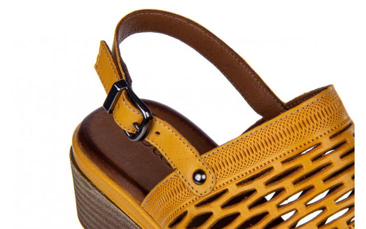 Sandały bayla-161 061 1600 noce 161200, żółty, skóra naturalna  - bayla - nasze marki 5