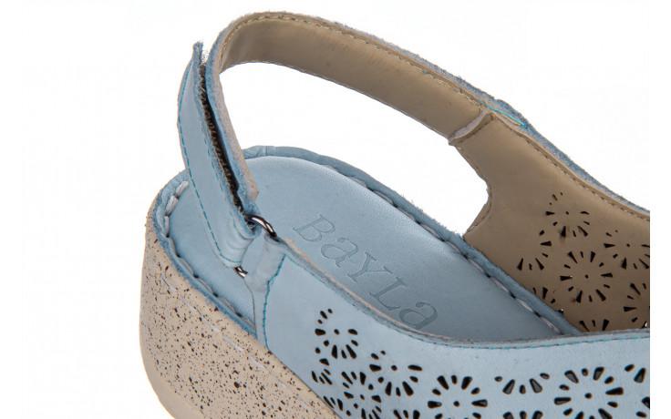 Sandały bayla-161 016 921 starlight blue 161194, niebieski, skóra naturalna 7