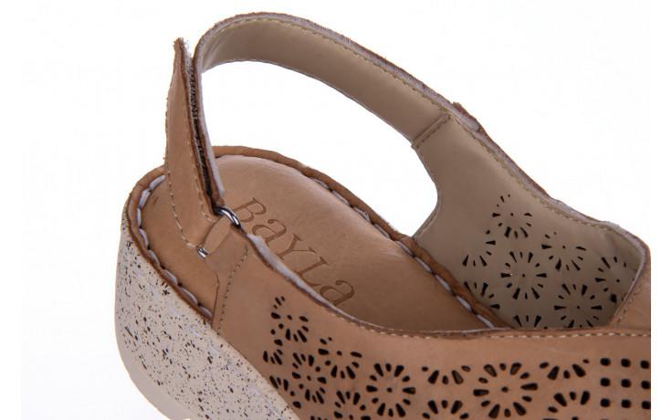 Sandały bayla-161 016 921 cappuccino 161192, brąz, skóra naturalna - sandały - buty damskie - kobieta 7
