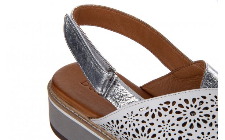 Sandały bayla-161 105 2014 white silver 161213, srebrny/ biały, skóra naturalna  - bayla - nasze marki 7