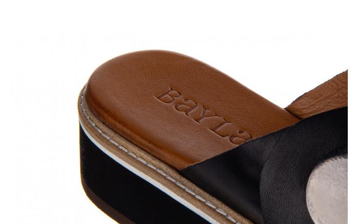 Klapki bayla-161 105 2006 black 161211, czarny, skóra naturalna  - bayla - nasze marki 7