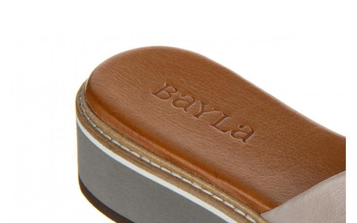 Klapki bayla-161 105 6004 grey tan 161215, szary/ brąz, skóra naturalna  - bayla - nasze marki 7
