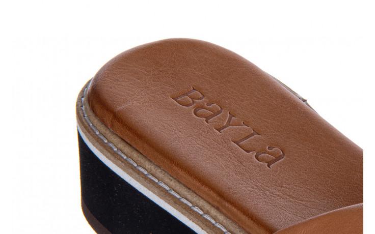 Klapki bayla-161 105 6004 black tan 161214, czarny/ brąz, skóra naturalna  - klapki - buty damskie - kobieta 7