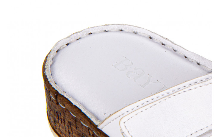 Klapki bayla-161 016 460 white 161189, biały, skóra naturalna  - bayla - nasze marki 7
